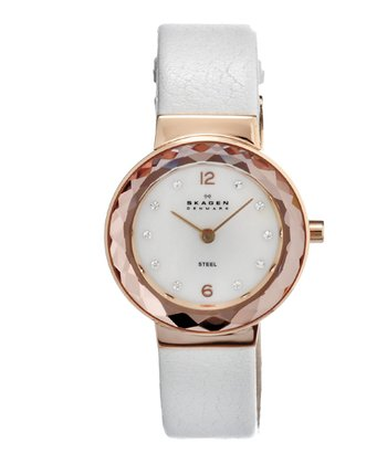 White & Gold Mother-of-Pearl Watch