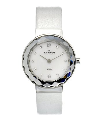 White & Silver Mother-of-Pearl Watch