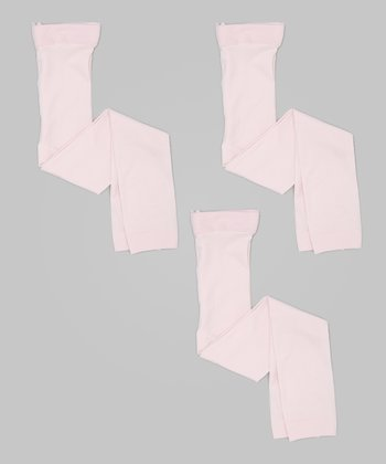 Pink Footless Tights - Set of Three