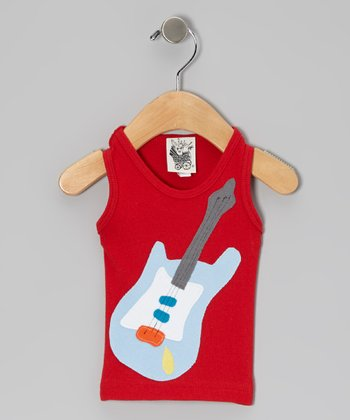 Red Guitar Tank - Infant, Toddler & Kids