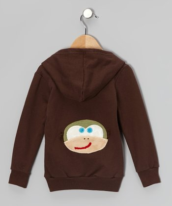 Brown Monkey Zip-Up Hoodie - Infant, Toddler & Kids