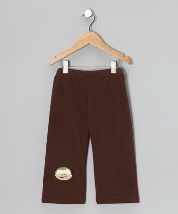 Brown Monkey Pants - Girls