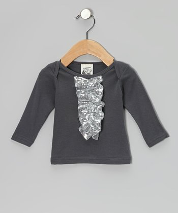 Asphalt Sequin Long-Sleeve Tee - Infant, Toddler & Girls