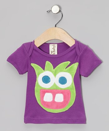 Purple Fun Fiend Short-Sleeve Tee - Infant, Toddler & Girls