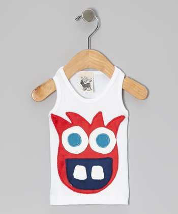 White & Red Fun Fiend Tank - Infant, Toddler & Kids