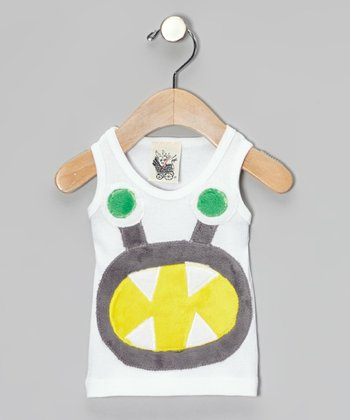 White Monster Tank - Toddler & Boys