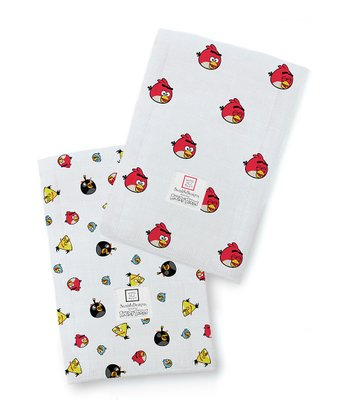 Red Angry Birds Burp Cloth Set