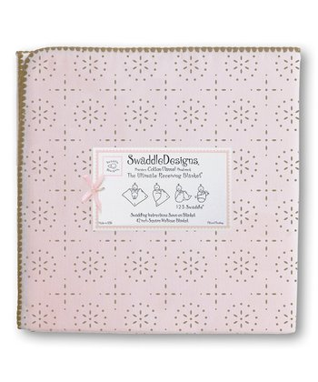 Pastel Pink & Taupe Gray Sparkler Ultimate Receiving Blanket