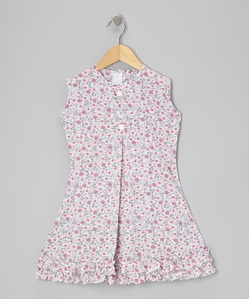 Pink Floral & Bow Ruffle Sundress - Infant, Toddler & Girls