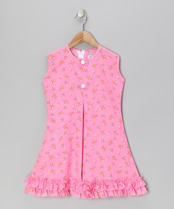 Pink Butterfly & Bow Ruffle Sundress - Infant, Toddler & Girls
