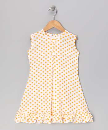 Yellow Polka Dot Bow & Ruffle Sundress - Infant, Toddler & Girls