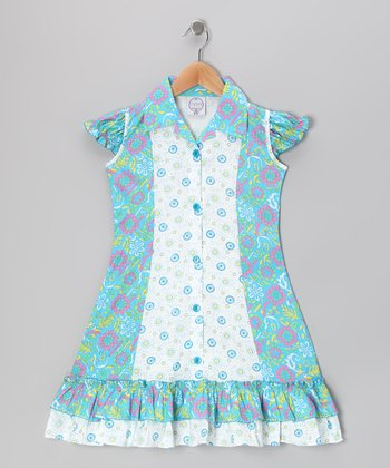 Blue Floral Mod Sundress - Infant, Toddler & Girls
