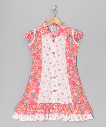 Coral Floral Mod Sundress - Infant, Toddler & Girls