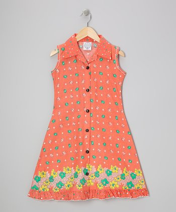 Orange Floral Mod Sundress - Infant, Toddler & Girls