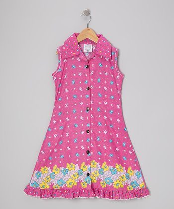 Pink Floral Mod Sundress - Infant, Toddler & Girls