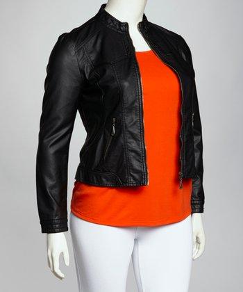 Black Plus-Size Jacket