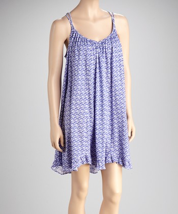 Violet Whisper Crocheted Chemise - Women