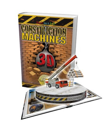 Construction Machines 3-D Book