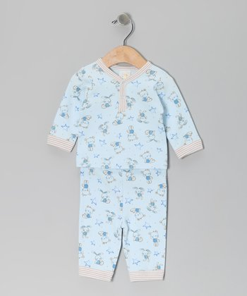 Light Blue Bear Top & Pants - Infant