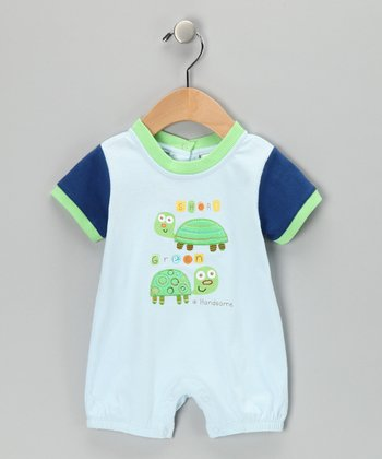 Blue Turtle Romper - Infant