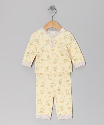 Yellow Bear Top & Pants - Infant