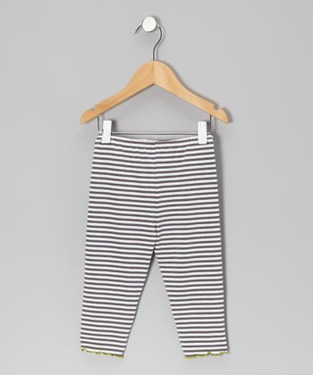 Gray Stripe Capri Pants - Infant, Toddler & Girls
