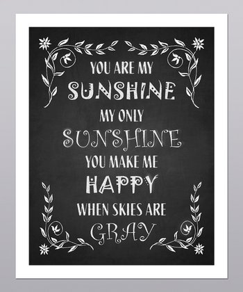 'You Are My Sunshine' Floral Print