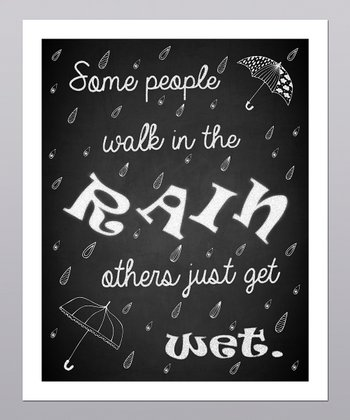 'Walk in the Rain' Umbrella Print