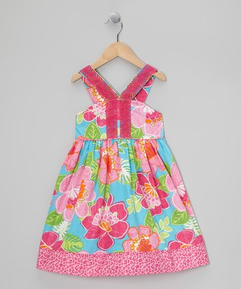 Pink Floral Island Sundress - Toddler & Girls