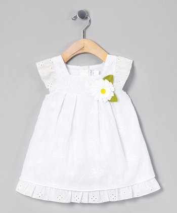 White Daisy Sundress & Diaper Cover - Infant