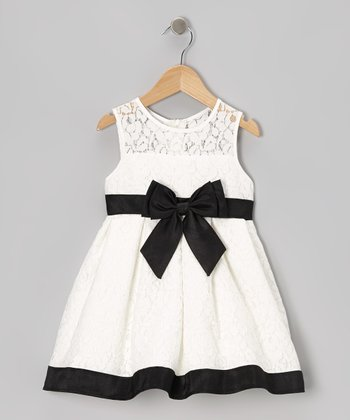 Black & White Bow Dress - Infant