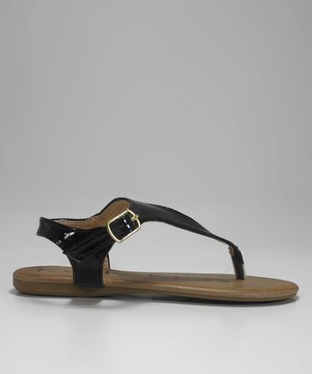 Black Patent Queenie Sandal