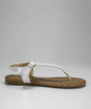 White Patent Queenie Sandal