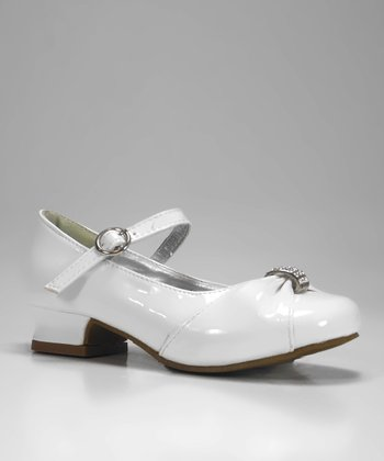 White Patent Charm Mary Jane