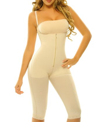 Nude Margarita Powernet Underbust Knee-Length Shaper Bodysuit - Women & Plus