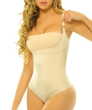Nude Pompon Body Control Shaper Bodysuit - Women