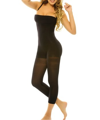 Black Alheli Shaper Capri Bodysuit - Women