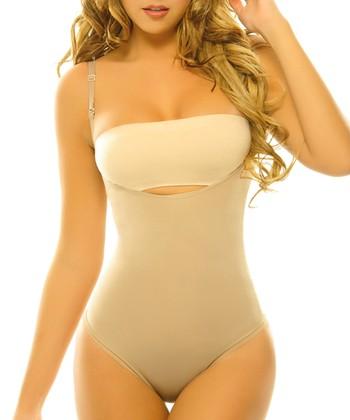Nude Clavel Body Control Underbust Shaper Thong Bodysuit - Women