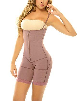 Purple Postpartum Underbust Shaper Bodysuit - Women