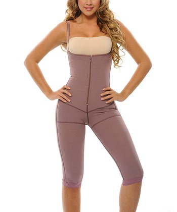 Purple Postpartum Underbust Shaper Capri Bodysuit - Women & Plus