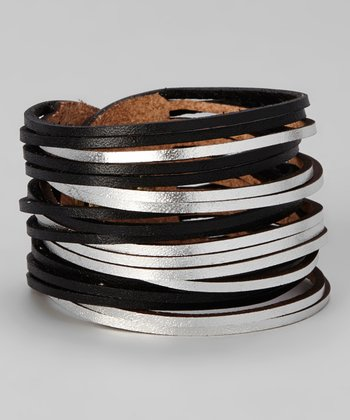 Black & Silver Sliced Bracelet