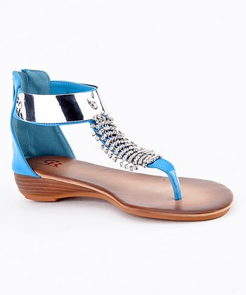 Blue Estefania-03 Wedge