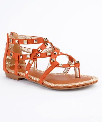 Light Red Paris-07 Studded Sandal