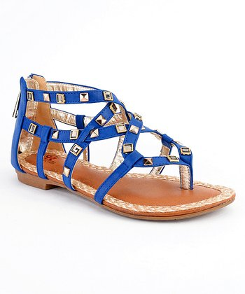 Royal Blue Paris-07 Studded Sandal