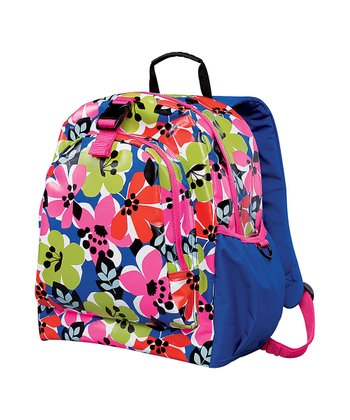 Blue Bold Floral Be-Right-Back Backpack