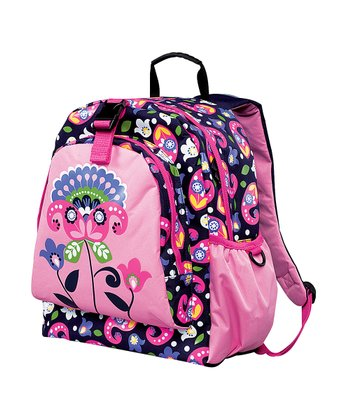 Pink Paisley Flower Be-Right-Back Backpack