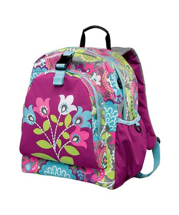 Purple Fun Flowers Be-Right-Back Backpack