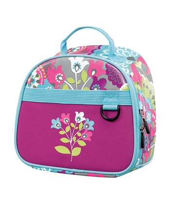 Purple Fun Flowers Lunch Bag