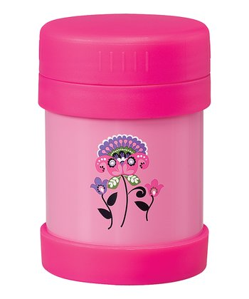 Pink Paisley Flower Food Container