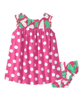 Bouquet Pink Summer Sundress & Diaper Cover - Infant & Toddler